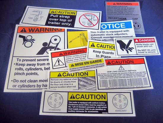 OSHA Products | ANSI Standard Decals | Metal Data Plates